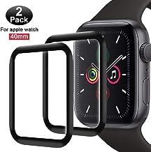 FANIER Protector Pantalla para Apple Watch 40mm Serie 5/4 Cristal Templado [Alta sensibilidad] para Suave Protector para Apple Watch Series 4 / Series 5 40mm [2 Piezas]