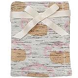 Koala Baby Girls' Monkey Print Fleece Lined Knit Blanket - Pink by Babies R Us