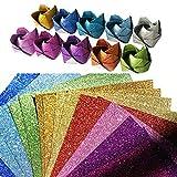 SENDILI Papel de Origami - 100 Hojas de Papel Plegable Hecho a Mano Cuadrado Brillante de 10 Colores para Principiantes Accesorios de Bricolaje Hechos a Mano(15x15cm)