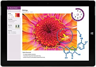 Microsoft Surface 3 64GB Multi-Touch Tablet (10.8in,4G LTE,Windows 8.1,Silver) (Renewed)