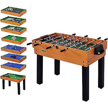 WIN.MAX WinMax Tavolo Multigioco 12 in 1,Pieghevole, Biliardo, Calcio Balilla, Hockey, Ping Pong e Altro, incl. Accessori, 106.7x61x81.3 cm