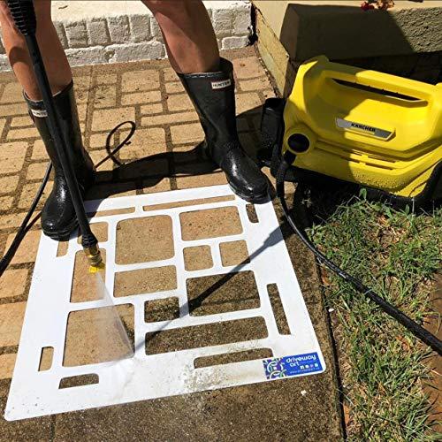Driveway Art DIY Pressure Washer Stencil Designs - Cobblestone 22'x22' Stencil for Walkways, Driveways, Concrete Patios - Creative Custom Styling, Easy to Use, Long Lasting Curb Appeal!
