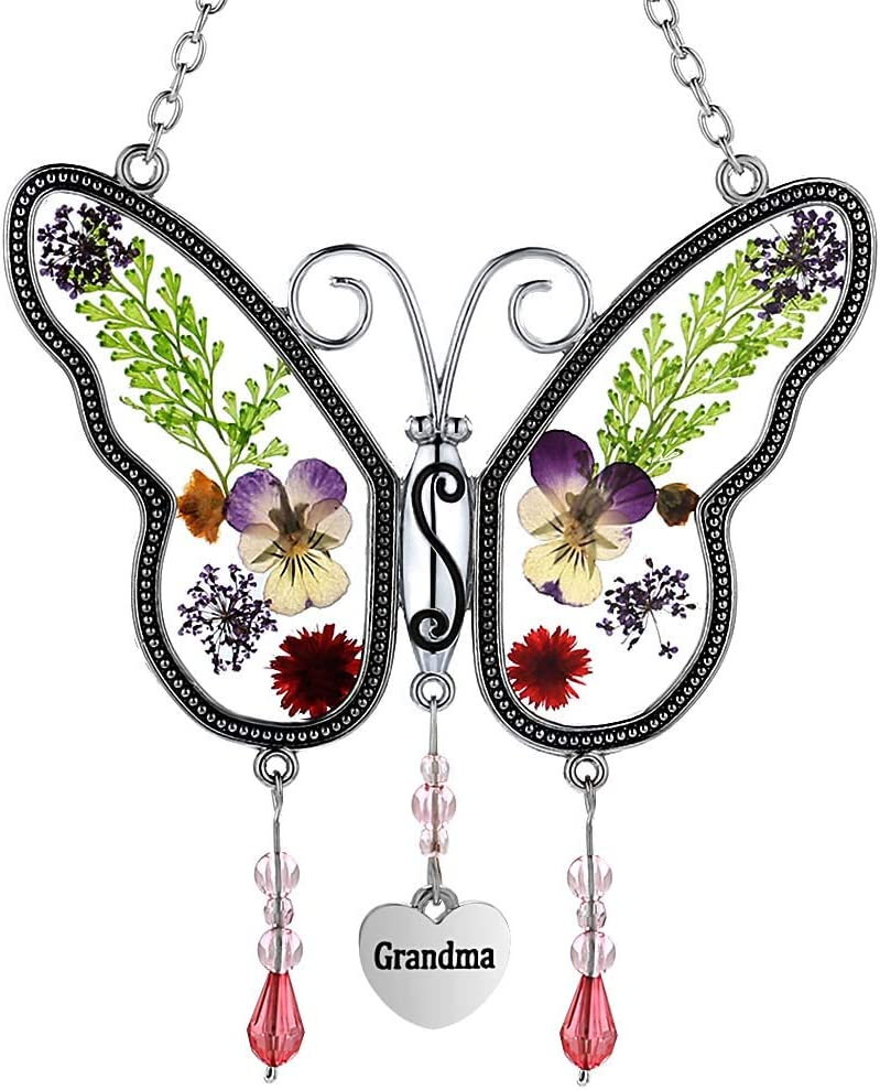 Grandma Inexpensive Butterfly Suncatchers Glass El Paso Mall Wind Chime Grandmother with