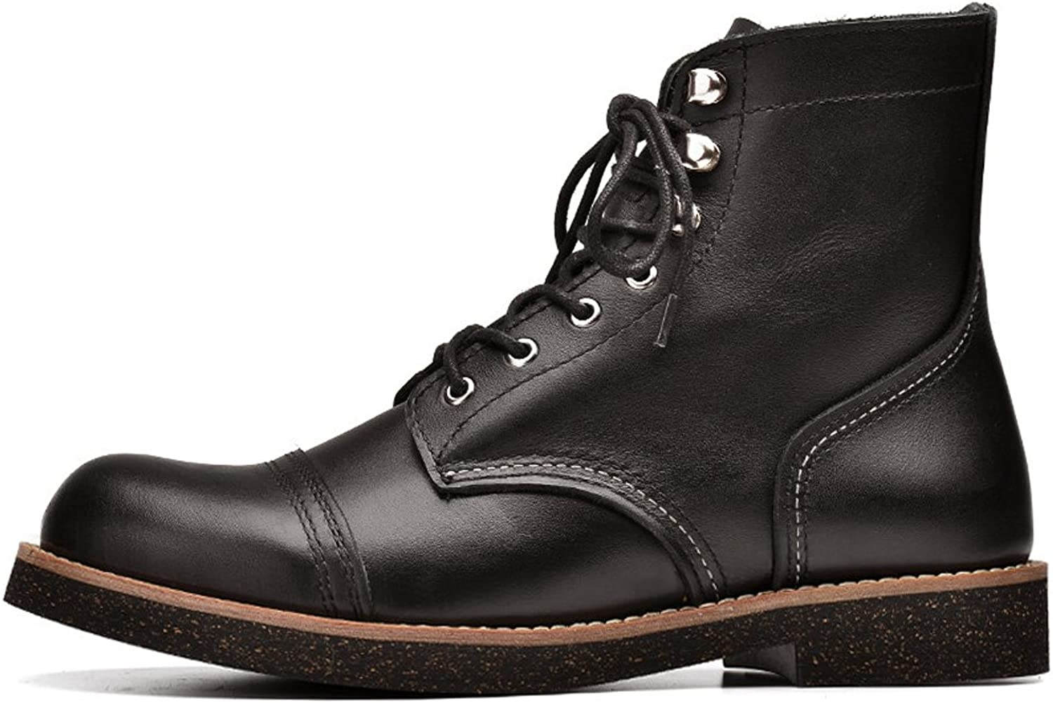 T-mod Comfortable Non Slip First Layer Genuine Leather Boots Stylish Casual Work shoes for Mens