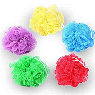 Beauenty Bath Shower Body Exfoliate Puff Sponge Mesh Net Ball Random(5PCS multicolor)