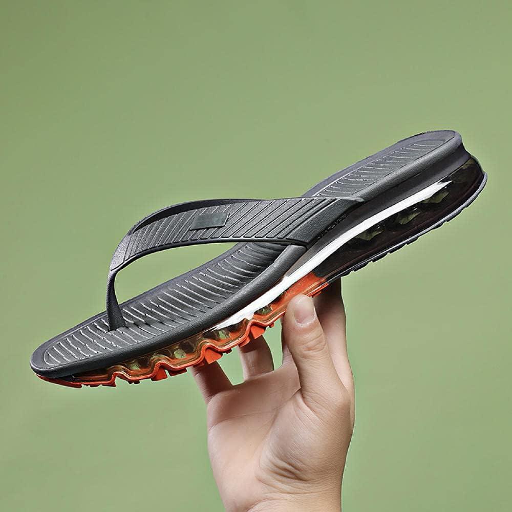 Kirin-1 Rainbow Flip Flops Men,Summer New Air Cushion Slip Shoes 45 Large Size Pin Motor Human Drag-38_Gray Orange