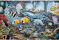 大人のジグソーパズル1000ピースのジグソーパズルファミリーゲームDIYゲームおもちゃ大人のギフト子供とティーンエイジャーのジグソーパズル(水中世界) 26 X 38cm