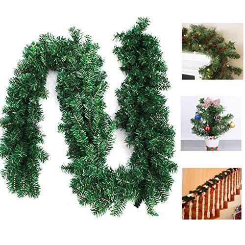 MILIER Girlande für Weihnachten, 8.8ft Girlande für Künstliche Kiefernnadel-Weihnachtsdekorationen für Feiertags Hochzeitsfest