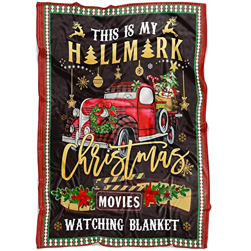 Hallmark Movies Christmas Blanket Huge Collection with Best Design, It's a Christmas Movie, Hallmark Movies Wine Kind of Day, Merry Christmas Throw Gift for Dad Mom