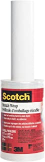 "Scotch Stretch Wrap, 12"" Wide, 720ft Roll, Hand-held Shrink Wrap"