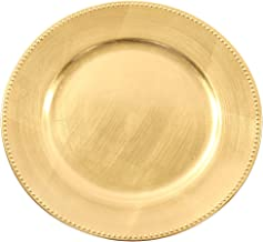 Koyal Wholesale Charger Plates, Gold (Pack of 4)