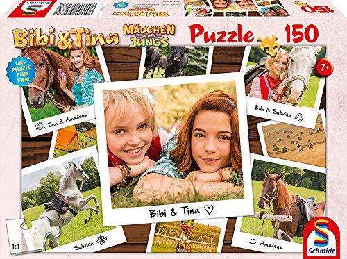 Schmidt Spiele Puzzle 56177 Bibi und Tina, Puzzle zum Film 3, Beste Freundinnen, 150 Teile