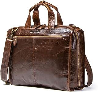 Laptop Messenger Bag for Men, Leather Briefcases for Men Shoulder Bag, Leather Messenger Bag Business Shoulder Bookbag Tra...