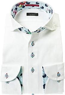 ドレスシャツ ワイシャツ カッターシャツ シャツ STYLE WORKS(スタイルワークス 長袖 綿:100% カッタウェイ カッタウェイ メンズ 柄シャツ 派手シャツ|RLD546-012 [012-3L]
