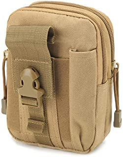YWSCXMY-AU Men's Pockets Casual and Durable Canvas Multi-Function Military Zipper Waterproof Pockets Outdoor Clothing (Color : Khaki)