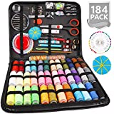 Sewing Kit, 184 Large Premium Sewing Supplies, 38 XL Thread Spools, Suitable for Traveller, Adults, Kids, Beginner, Emergency, DIY and Home Button Repair Kit