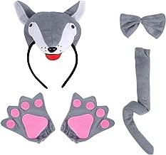 Adulto//bambino lupo Orecchie e Coda Set Costume Fascia Costume Accessorio