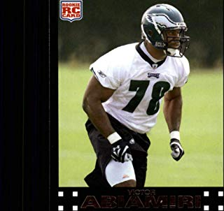 2007 Topps Football #359 Victor Abiamiri RC Rookie Philadelphia Eagles Official NFL Trading Card (from just opened factory sealed set)