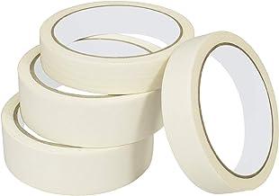 Cinta de carrocero, 4 rollos/cinta adhesiva multiusos para etiquetar, decorar, manualidades (0,79 pulgadas, 1,18 pulgadas)