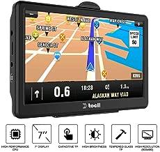 Navegación GPS para coche, sistema de navegación GPS para coche, 7 pulgadas, 8 GB de pantalla táctil, navegador GPS para vehículo con actualización de mapas de por vida