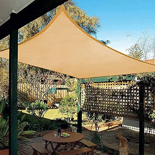 DANYCU Vela de sombrilla de jardín para Patio Cubierta de Pantalla Rectangular Toldo de sombrilla al Aire Libre Toldo Protector Solar Impermeable de Tela Oxford,Sand,1.8×2M(6×6.5)