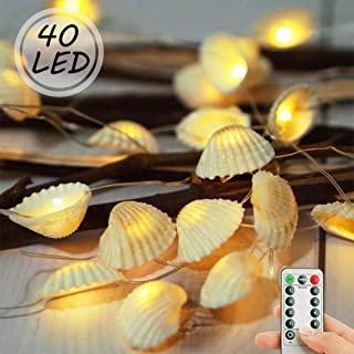 LoveNite Fairy String Lights, 8 Modes 40 LED Waterproof Decorative Ocean Lights with Remote Timer for Wedding, Party, Festival, Indoor, Outdoor Decor (Warm White)