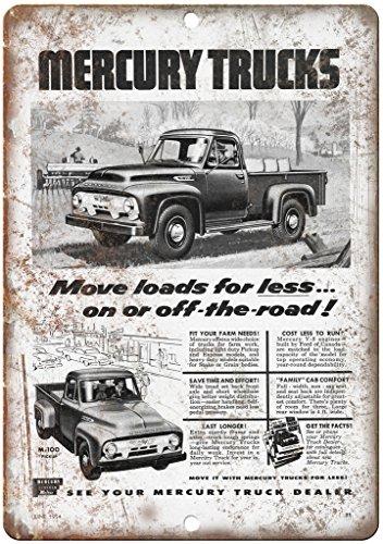 "Mercury Trucks M-100 Automobile Ad 12"" x 9"" Retro Look Metal Sign A310"