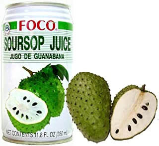 Twelve pack of Foco Soursop Juice Drink 11.8 Oz - 350 ml Cans