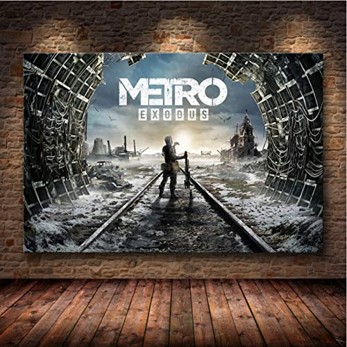 lubenwei Metro Exodus Game Poster Artwork Canvas Painting Wall Art Nordic Modern Home Decoration Poster For Living Room Print Pictures G-1666 50x70cm No Frame