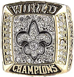 Gloral HIF New Orleans Saints Ring Football 2009 Championship Ring Size 11,Without Box