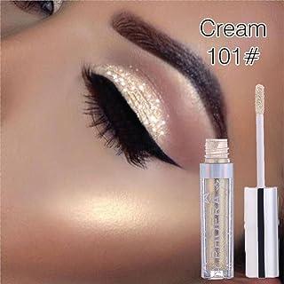 Sacow Liquid Eyeshadow, 12 Color Magnificent Metals Glitter Liquid Eyeshadow Long Lasting Shiny Diamond Eye Shadow (A)