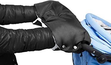 Volador Wasser- und Windabweisend schwarz Kinderwagen Handschuhe Atmungsaktiv Universalgr/ö/ße Handw/ärmer Mit//Handmuff f/ür Kinderwagen Buggy Radanh/änger