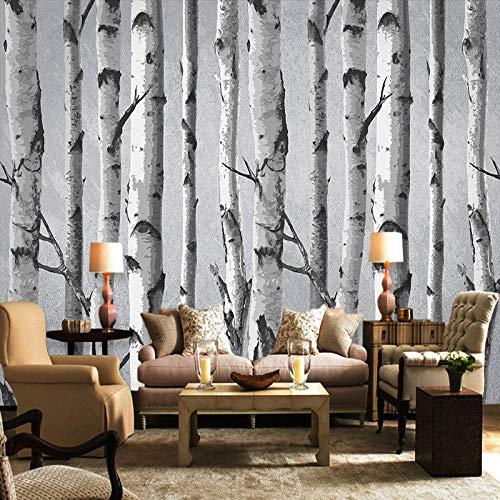 Wandbehang, modern, minimalistisch, in wit en zwart, grote boom, kunstdruk, fotobehang, voor thuis, woonkamer, bank, tv-achtergrond, veranda, slaapkamer 120in×200in 300cm(H)×500cm(W)