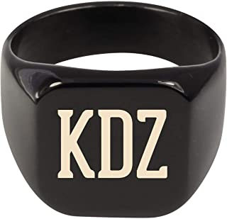 Molandra Products KDZ - Adult Initials Stainless Steel Ring