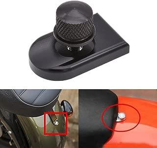 KaTur Round/Knurled Anodized Black Billet Aluminum Mount Seat Bolt Screw Thumbscrew for Harley Davidson 1996-2015 Dyna Street Bob