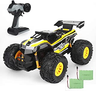 Ericoo RC Cars 1/18 Scale High Speed Monster Truck (RTR) Oversize Tires with Double Batteries 2.4GHz Radio Remote Controlled Vehice -Remo002