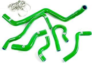Silicone Radiator Coolant Hose Kit Clamps For 1992-2000 HONDA CIVIC EK EG EX SOHC D15 D16 Green