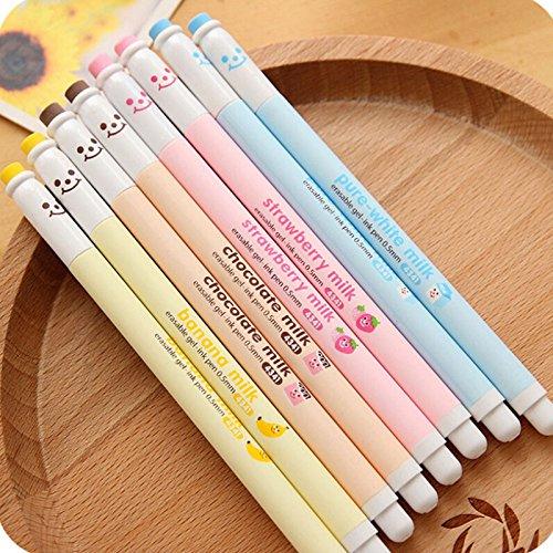 Creative Milky Erasable Gel Pen Cute Pens Stationery Office Material Escolar Papelaria School
