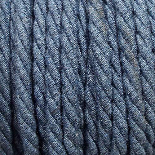 Be-Creative - Corda da da 5 mm in puro cotone orzo, con corda intrecciata, rivestimento (2 metri), colore: blu avio/grigio