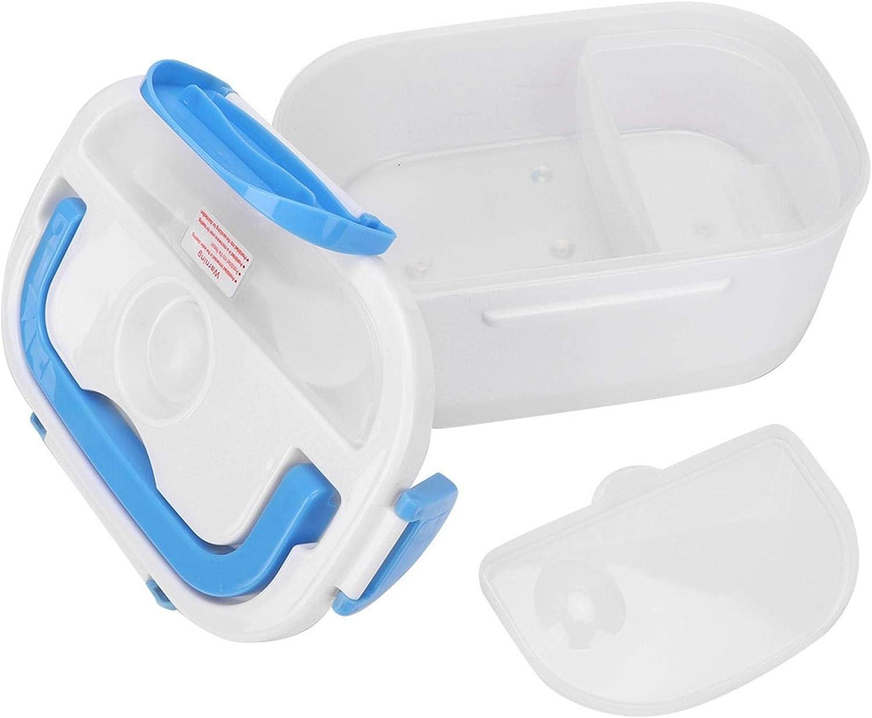 Uxsiya Fiambrera con calefacción, Fiambrera con Elementos calefactores PTC de 1.05L Fiambrera PP de Grado alimenticio para Oficina para la Escuela para Viajes en Coche(Azul)