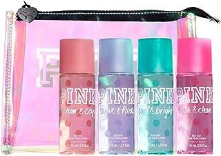 Victoria's Secret PINK Body Mist Gift Bag: Fresh & Clean, Warm & Cozy, Sweet & Flirty, Cool & Bright
