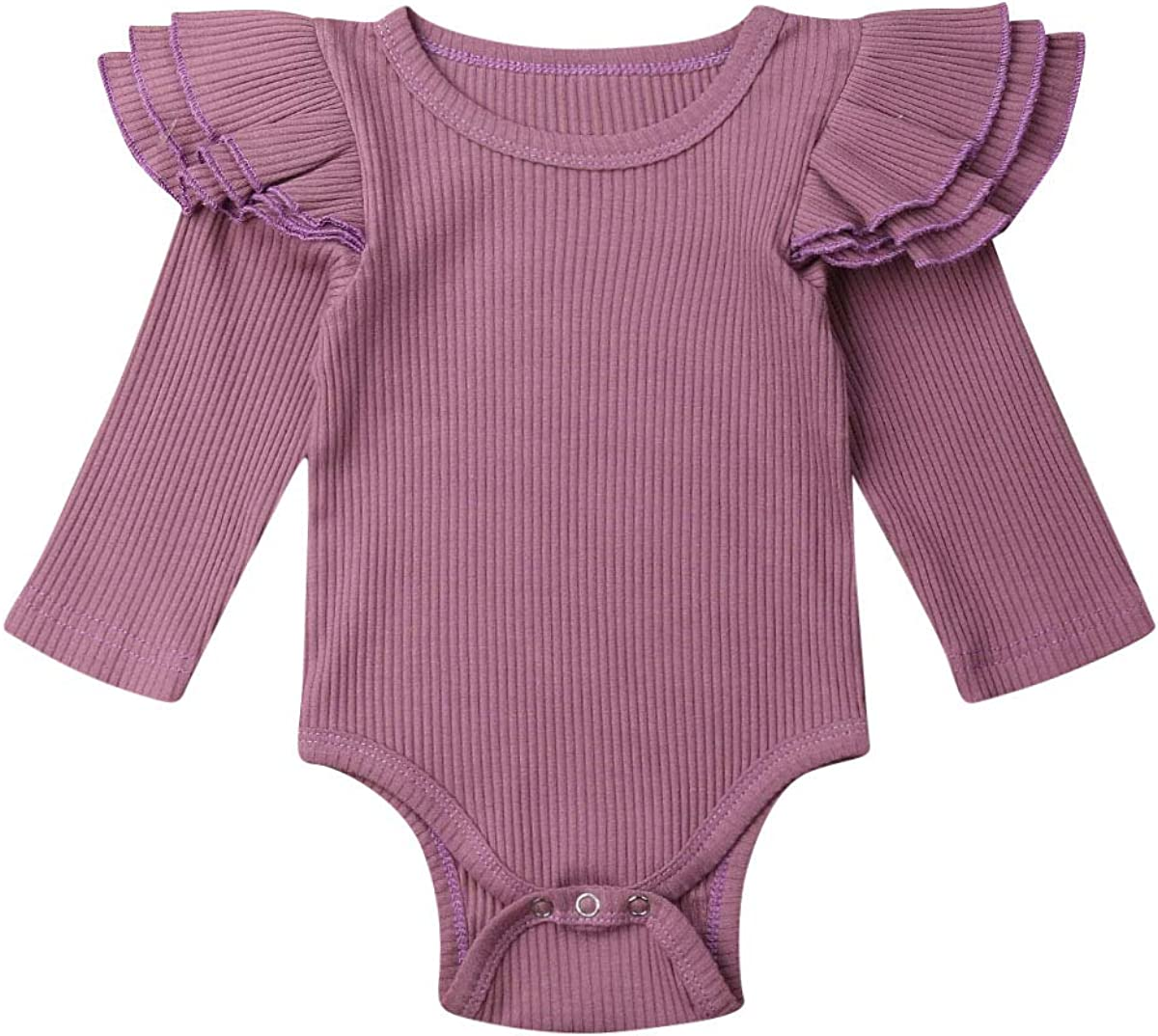 Opperiaya Baby Girl Boy Romper Bodysuit Solid Plain One Piece Jumpsuits Pajamas One Piece Clothes Outfits Summer Spring