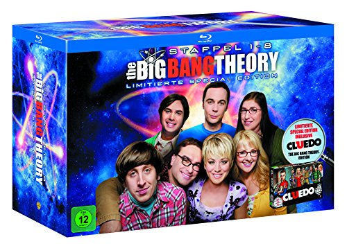 Cover The Big Bang Theory - Staffel 1 bis 8 inkl. Cluedo (exklusiv bei Amazon.de) [Blu-ray] [Limited Edition]