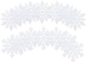 Artibetter 24 Stuks Sneeuwvlok Ornamenten Xmas Tree Opknoping Sneeuwvlok Decor Voor Winter Jaar Xmas Holiday Party Wanddec...