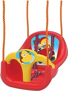 Dede Swing for Children, Easy Installation, High Back Full Bucket Heavy Duty Toddler Swing Seat Set, Red