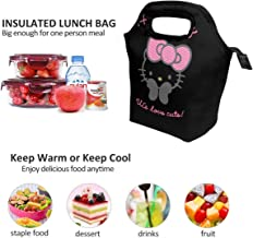Lunch Bag Love Cute Hello Kitty Insulated Lunch Tote Boxes Cooler Bag For Adults Men Women Kids Boys Nurses Teens