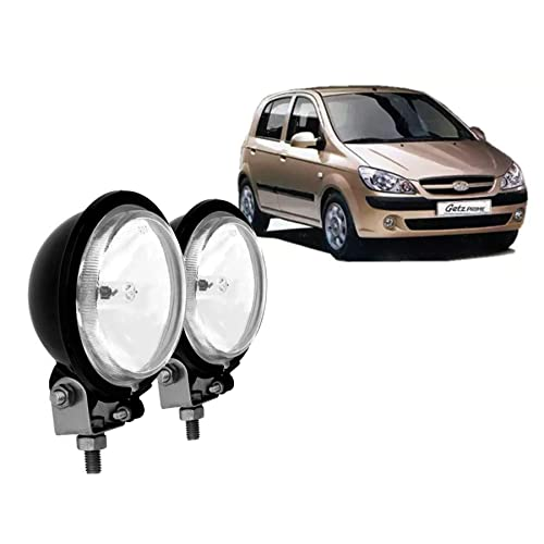 Autopearl - Premium Quality Car Fog Lamp Lights For - Hyundai Getz Prime (Without Plastic Sash Cover)