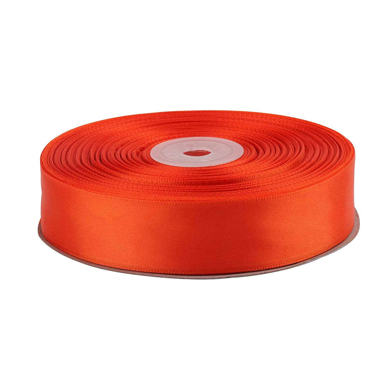 Red Satin Ribbon. High End Thick 1 Inch 50 Yards Roll Ribbons