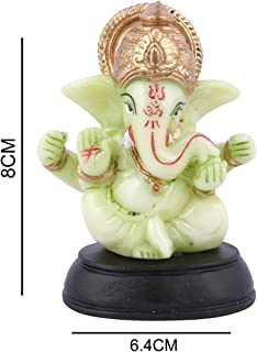 Affaires Radium Glow Ganeshji, Ganesh, Ganpati Murti Idol Statue Sculpture for car/Office Decor, Ideal Gift to Your Loved Ones G-435