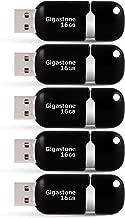 Gigastone 16GB USB 2.0 Flash Drive 5-Pack, Capless Retracble Thumb Drive Jump Drive Memory Stick, Zip Drives, Pen Drive for PC Windows Linux Apple Mac Desktop Laptop, 5 Pieces (5 Pack Black)